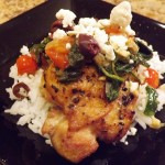 Tomato-Spinach-and-Feta-topped-chicken-thigh