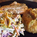 Bacon-Corn-slaw-jalapneo-polenta-and-salmon