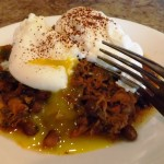 Poached-Eggs-on-Pulled-Pork-Chili