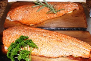 Cedar Planked Grilled Wild Pacific Salmon