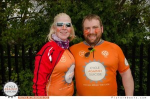 Alastair McDermott and Anne-Marie, on their cycle around Ireland.