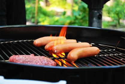 Grilling food in the summer